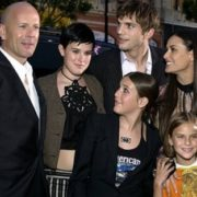 Ashton Kutcher, Bruce Willis and Demi Moore