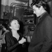 Alain Delon and Edith Piaf