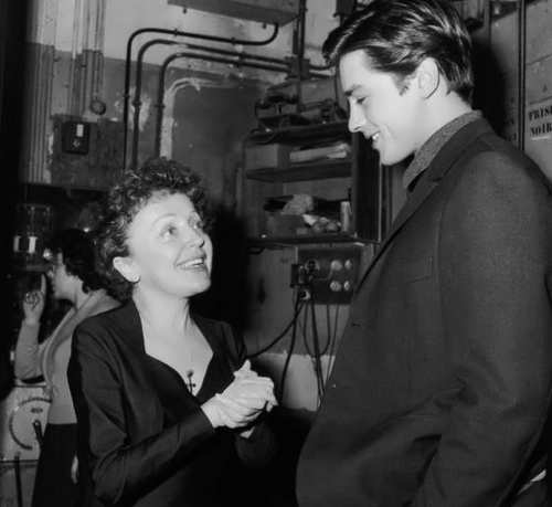 Alain Delon and Edith Piaf