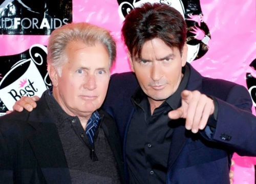 Charlie Sheen and his father