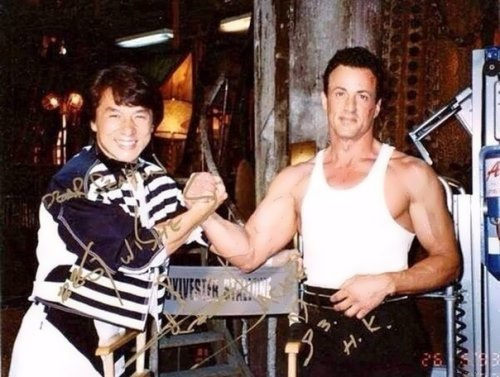 Jackie Chan and Sylvester Stallone