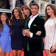 Stallone, his wife Jennifer Flavin and their daughters