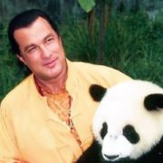 Steven Seagal and cute panda
