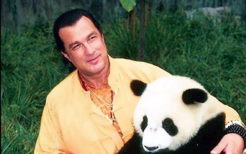 Steven Seagal and cute panda