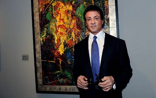 Sylvester Stallone painter