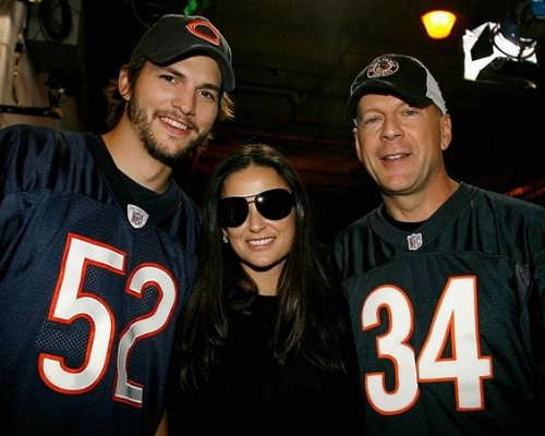 Ashton Kutcher, Demi Moore and Bruce Willis