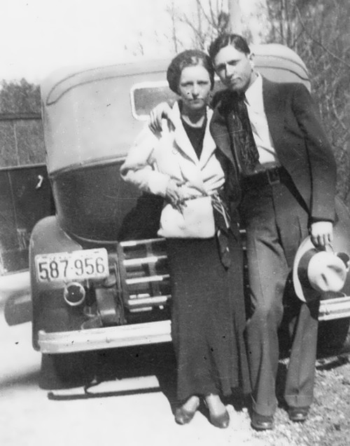Bonnie Parker and Clyde Barrow, 1933