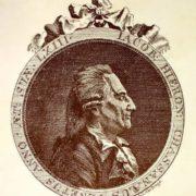 Casanova in March 1788 at the age of 62. Engraver - Johann Berka