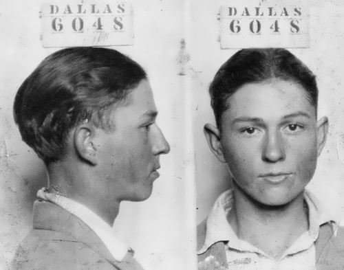 Clyde Barrow in 1926, at the age of 16