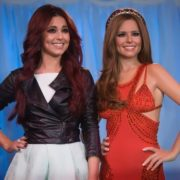 Cheryl and her wax copy at Madame Tussauds