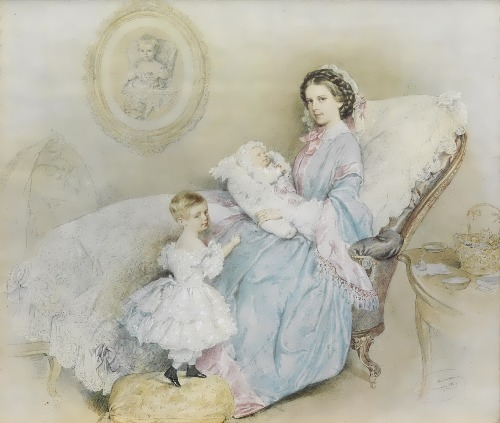 Elizabeth and her son Rudolf and daughter Gisela