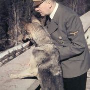 Hitler and a dog
