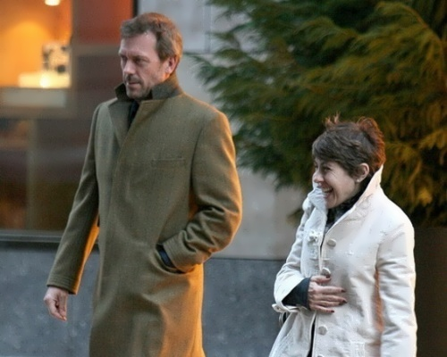 Hugh Laurie and his wife Jo Green