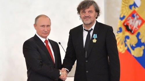 Kusturica and Russian President Vladimir Putin