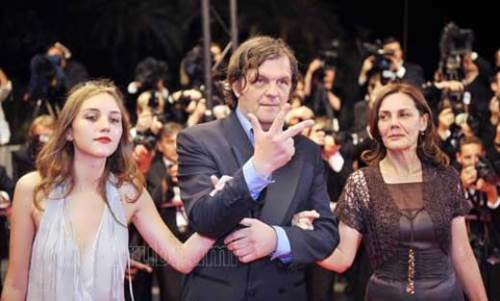 Kusturica with his wife and daughter