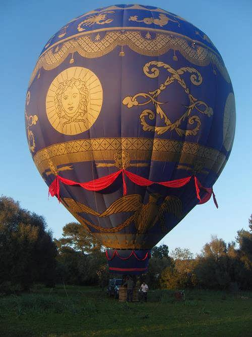 Modern model of Montgolfieres balloon