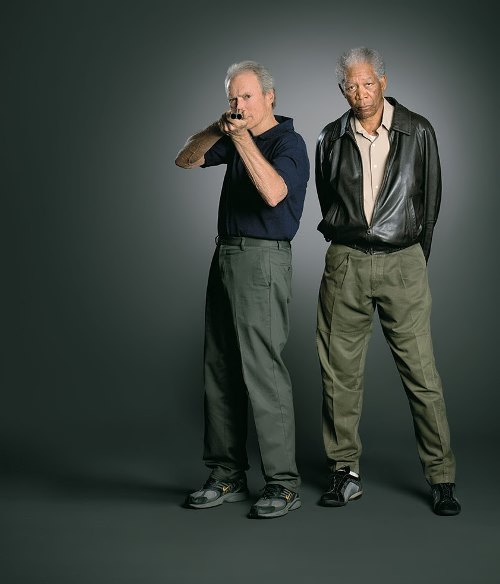 Morgan Freeman and Eastwood