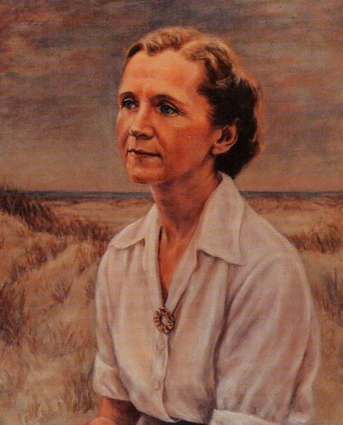 Portrait of Rachel Carson by Minnette D. Bickel