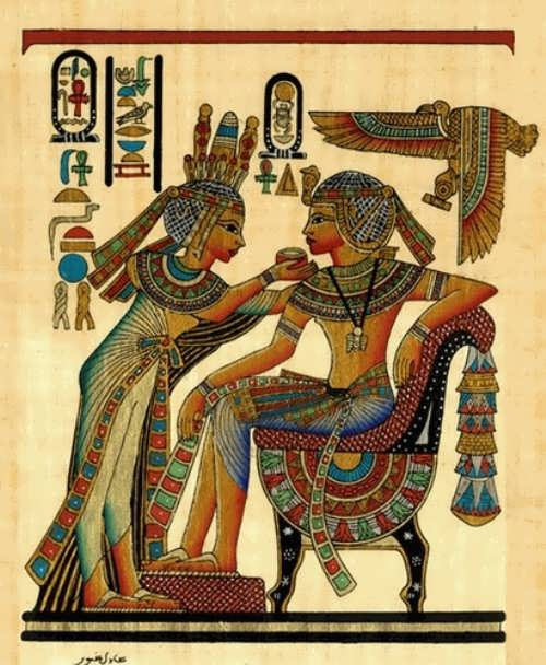 Tutankhamen and his wife