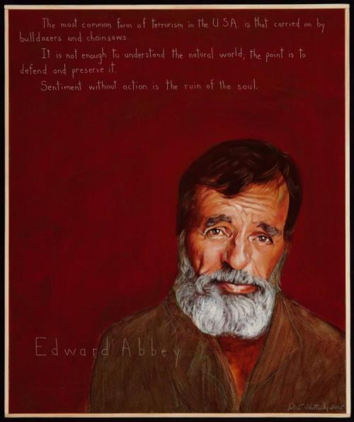 Writer Edward Abbey