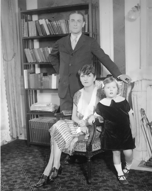 F. Scott Fitzgerald with his wife and daughter