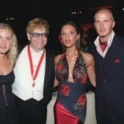 Kate, Elton John, Victoria and David Backham