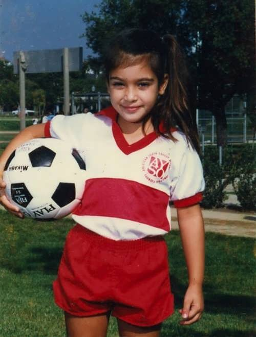 Kim Kardashian in her childhood