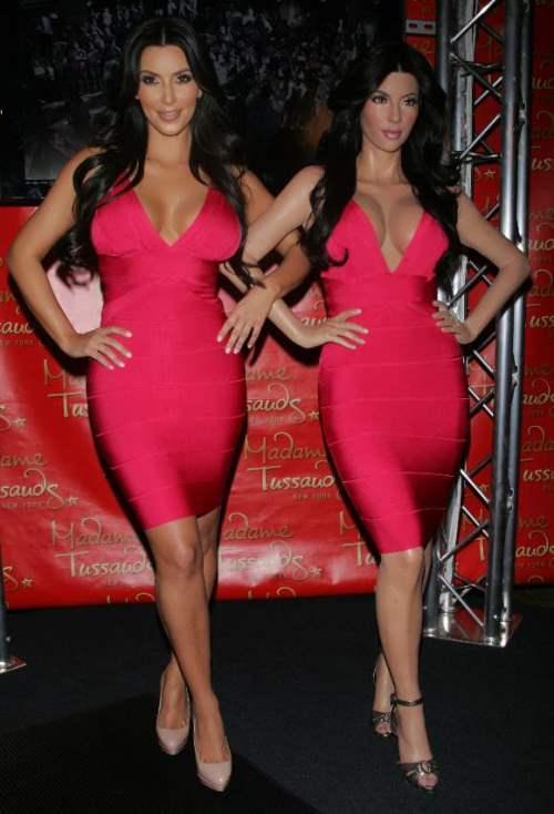 Kim Kardashian wax figure at Madame Tussauds