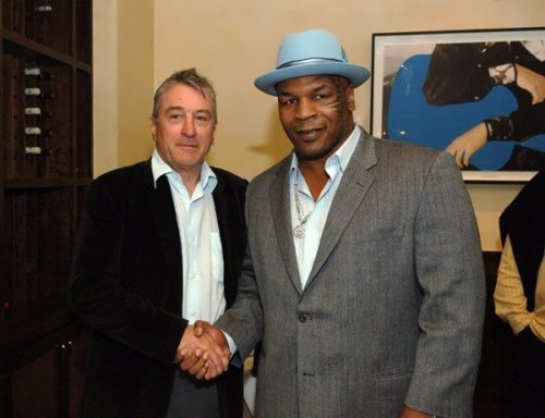 Mike Tyson and Robert De Niro