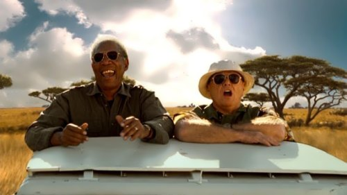 Morgan Freeman and Nicholson