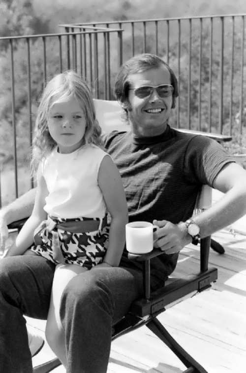 Nicholson and his daughter