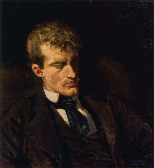 Akseli Gallen-Kallela. Portrait of Edward Munch, 1895
