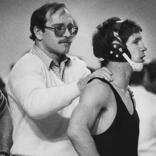 Dan Gable Wrestling, 1983. Dan Gable With Tim Riley.