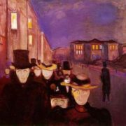 Evening on Karl Johans Street, 1892