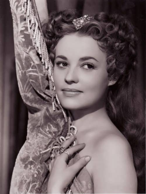 Jeanne Moreau, the diva of French cinema, in the role of Queen Margot, 1954