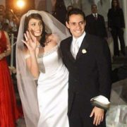 Marc Anthony and his wife