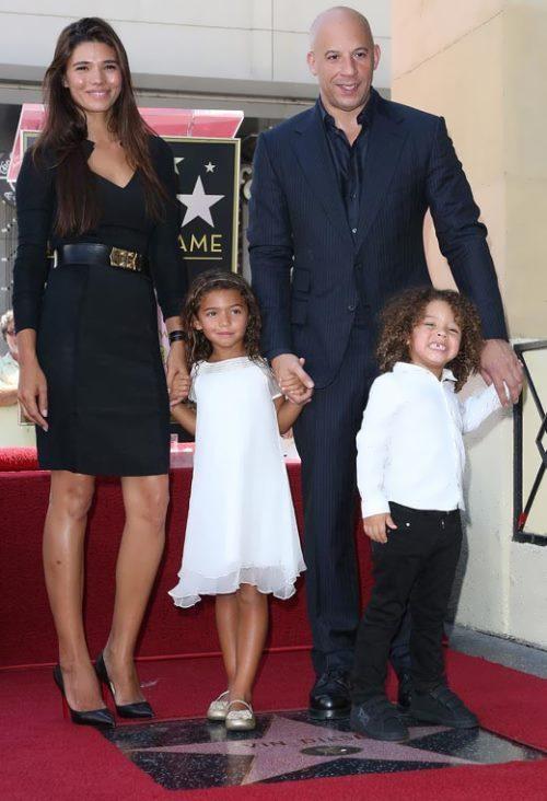 Paloma Jimenez, Vin Diesel and their children