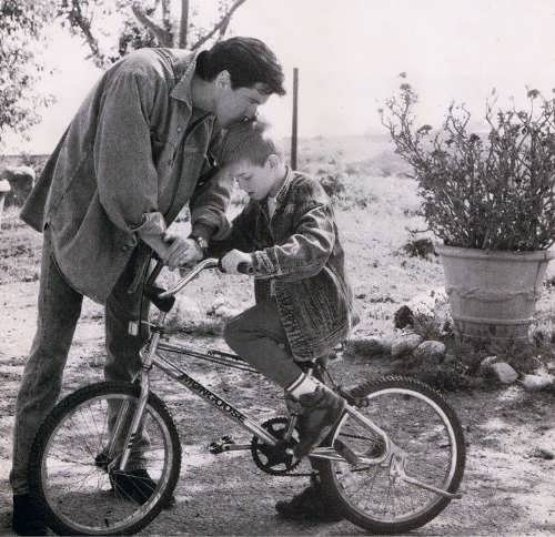 Pierce Brosnan and his child