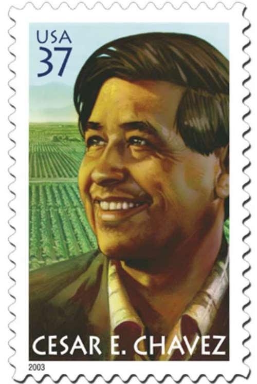 Postage stamp dedicated to Cesar Chavez
