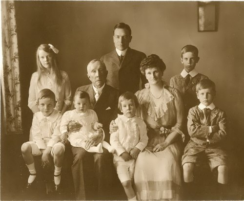 Rockefeller and his family