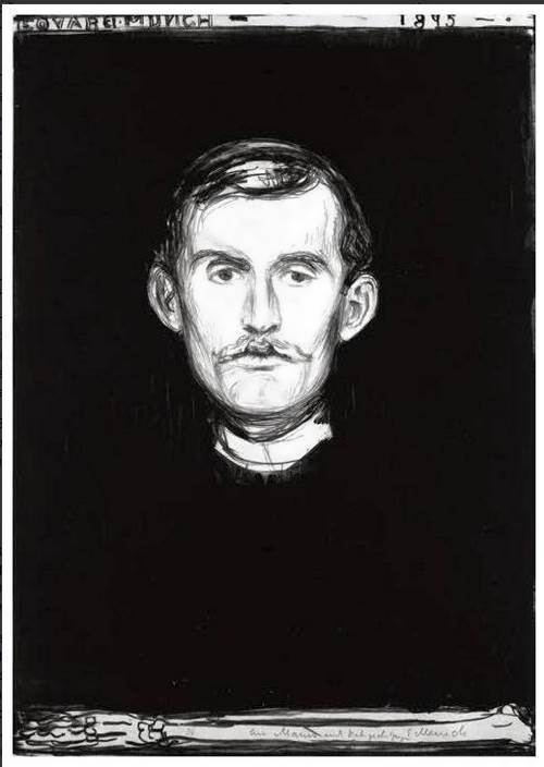 Self-portrait With Skeleton Arm, 1895