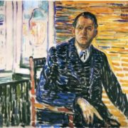 Self-portrait in the hospital of Professor Jacobson