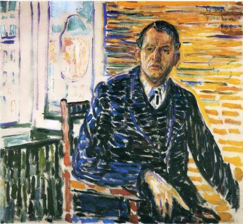 Self-portrait in the hospital of Professor Jacobson