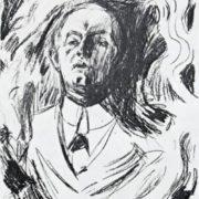 Self-portrait with a cigarette, 1908-1909