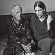 Smith with writer Paul Bowles, Tangier, 1997