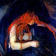 The famous painting Vampire in the original version was called The Kiss