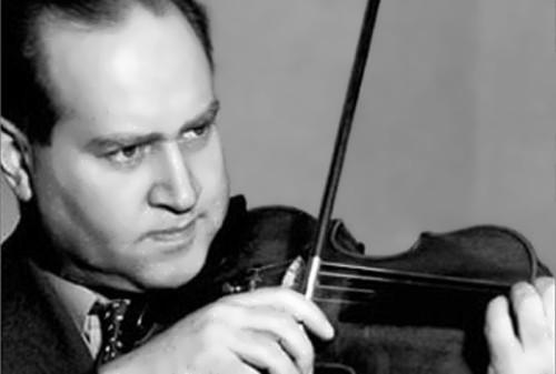The famous violinist David Oistrakh