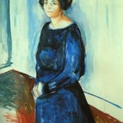Woman in blue (Frau Barth), 1921