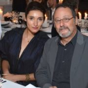 Jean Reno and his wife