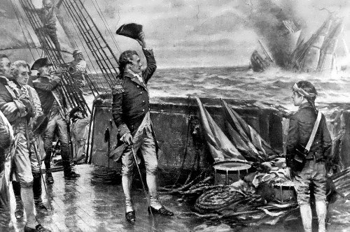 Jones defeated a British ship in one of the most famous sea battles in history
